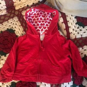 Gymboree red hearts toddler hoodie ❤️❤️❤️